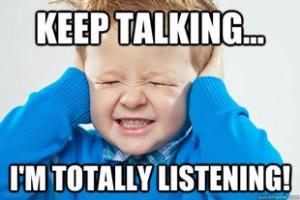 kid listening